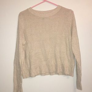 Cream short sweater